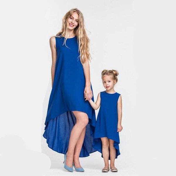 mother daughter clothes family matching Chiffon skirt baby clothing girls princess clothes Maternity Dress women Skirt clothes QZZW088