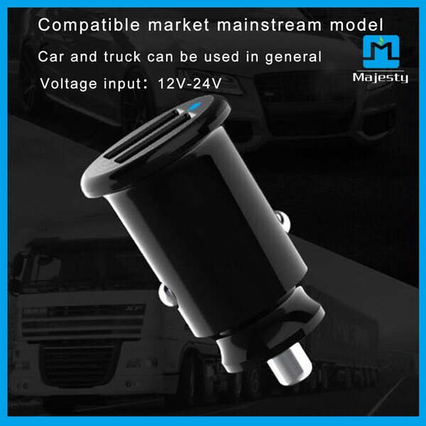 2018 New Universal USB Charger Car Adapter USB Socket 2 Port Wireless Car-charger For iPhone Samsung Ipad Free DHL