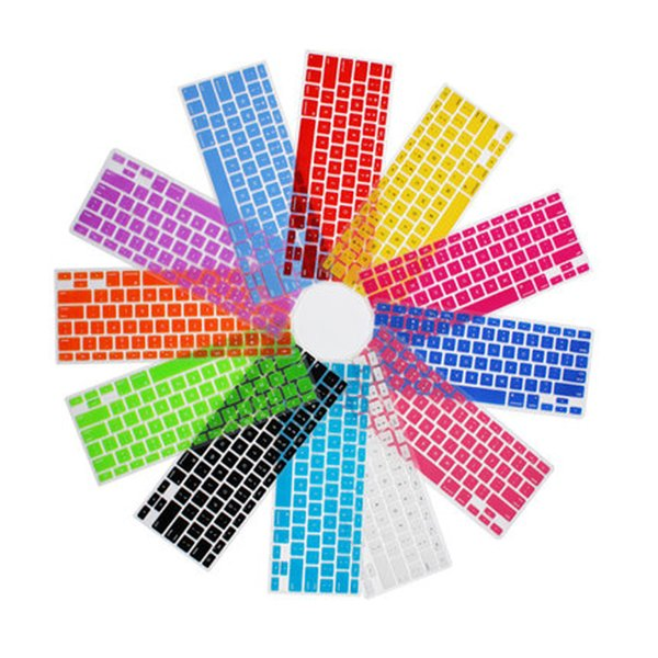 """Coosbo - France/French AZERTY Colorful Silicone Keyboard Cover Skin Protection sticker for 11"""" Mac Macbook Air/11 inch air11"""