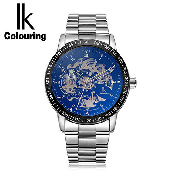 Mit Uhr Farben Hohl Self Luxury Coloring Ik Wind Armbanduhr Edelstahl Herren Männliche Großhandel Von Geschenkbox Multi Automatische Skeleton xBerdCo