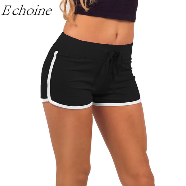 Echoine Cheap Women Yoga Shorts Quick Dry Breathable High Waist Running Gym Workout Shorts Fitness Sports Bottoms Pantalon Corto
