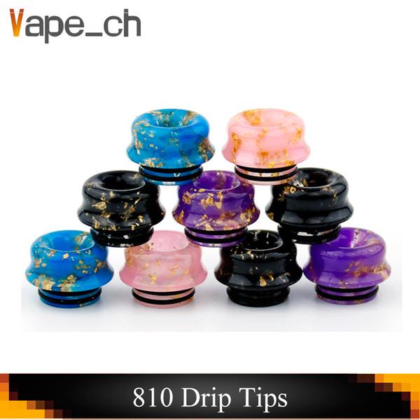 Grante 810 Thread Epoxy Resina Bore punta a goccia Bocchino Vape Drip Tips per TFV8 TFV12 Prince TFV8 Big Baby E sigaretta