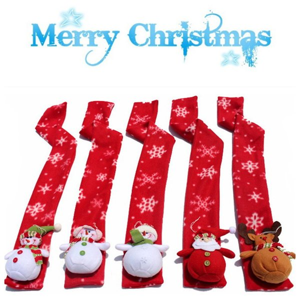 Christmas Scarf.2019 Christmas Scarf Children Soft Neck Wrap Winter Warm Children Scarf Scarves Gift Santa Snowman Reindeer Scarf Le114 From Kids Gift 2 47