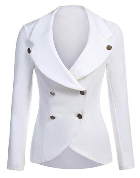 2018 New Spring Autumn Slim Long sleeve women jacket business office work wear blazer fashion EleDouble Breasted blazer
