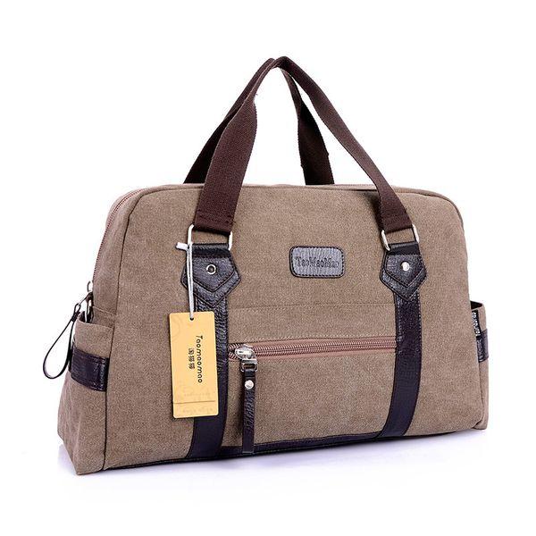 New men's Fashion casual canvas travel duffel shoulder messenger soft handle bags for male men travel bags