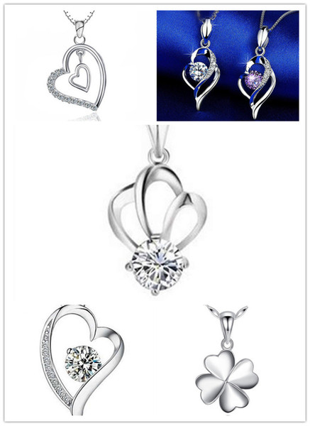 brand new pure silver pendant for necklace heart love frame shape pendants charms jewelry findings components model no. p17-21