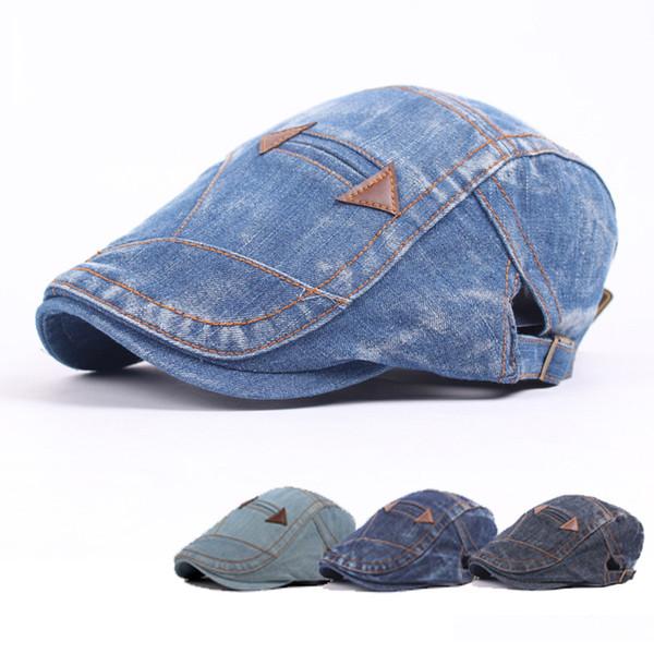 4 Colors Adjustable Denim Berets Snapbacks Casquette Baseball Cap Designer Hat Dad Hat Bucket Fitted Hat Brand Hats