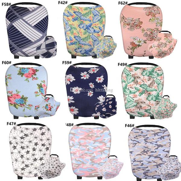 Baby-Krankenpflege-Sonnenschutz-Abdeckungs-Decke Blumenstreifen gewelltes Muster Spaziergängerabdeckung Säuglingsträger Sonnenschutz Abdeckung 84 Arten C3487