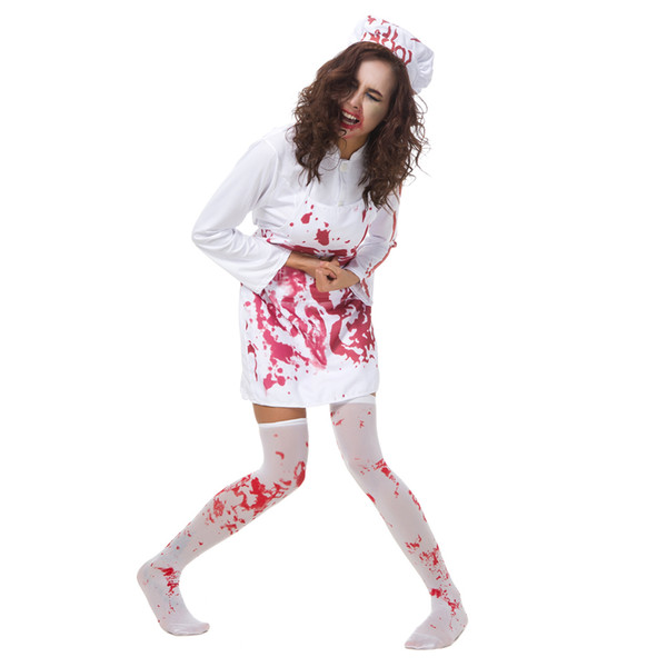 Halloween Horror Bloody Chef Fancy Dress Outfits Set Sexy Cosplay femminile Dress Up Chef Tema Costume