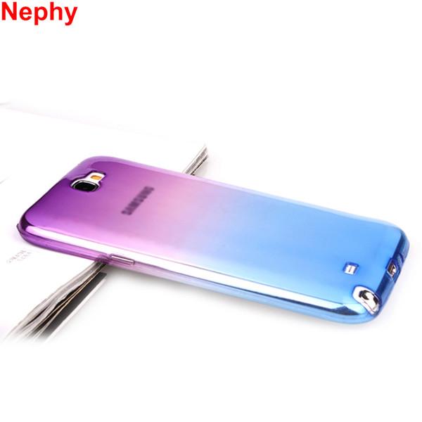 Cas de téléphone portable pour Samsung Galaxy note 2 3 4 5 Couverture note2 note3 note4 note5 Duos Silicon Ultrathin Clear Fundas