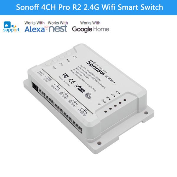 Sonoff 4CH Pro R2 Advanced Smart Switch 4 Canali 433MHz 2.4G Wifi Remote Control Moduli di automazione intelligenti per elettrodomestici