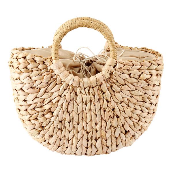 79807a52f8850 handmade lady bags Promo Codes - Summer Beach Bag Women Woven Handmade  Rattan Straw Bags Women
