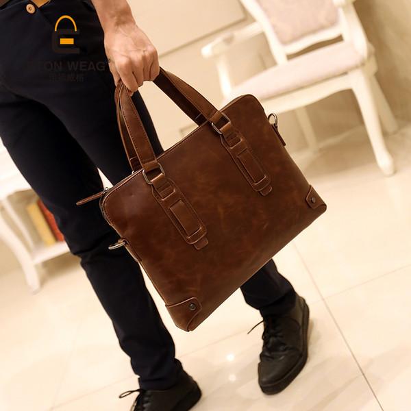 Nouveau sac de loisirs pour hommes coréens Sac de loisirs pour homme Sac à main à une épaule Slant Briefcase