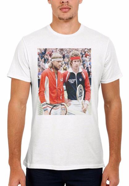 John McEnroe Björn Borg Tennis Männer Frauen Weste Tank Top Unisex T-Shirt 2040