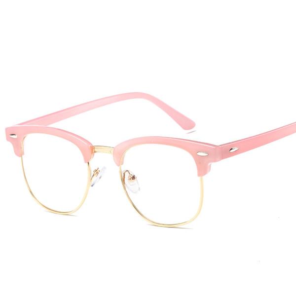 46a4e51752a Korean Fake Glasses Frames Women Transparent Oculos Clear Lens Anti Blue  Light Glasses Fashion Optical Frame Eyeglasses Oculos
