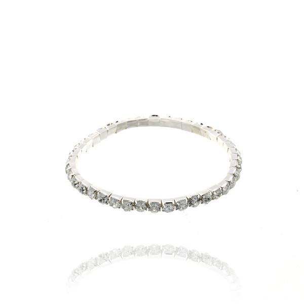 Fashion Ultra Bright Single Row Inlaid Rhinestones Bracelet Super Shiny Stretch Elastic Bracelets For Women Girls pulseras mujer