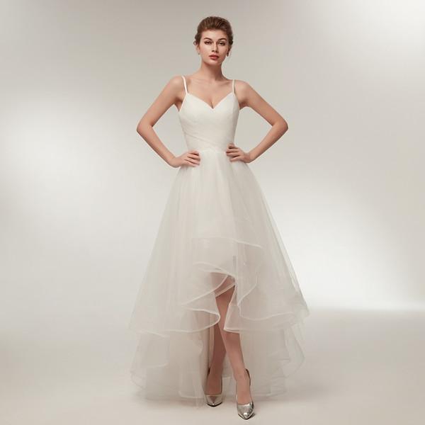 Compre Sereia Vestidos De Noiva Vestidos Simples Elegante Tule Strapless Vestido De Noiva 2018 Novo Vestido De Noiva Real Rendas Para Cima De