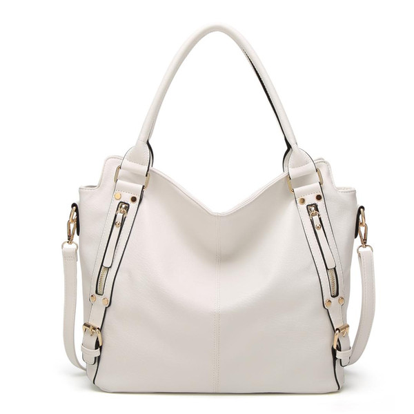 2018 Europe and The United States New Generous Bag Hand Strap Shoulder Slung Ladies Solid Color Wild Bag G