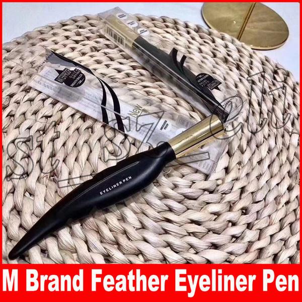 M brand makeup feather de ign beautiful liquid waterproof long la ting mooth black brown make up eye liner pen eyeliner co metic