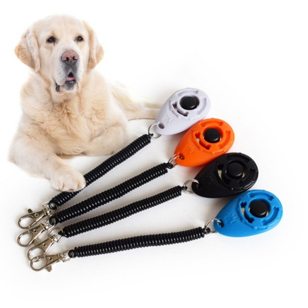 Free Shipping 4 Colors Easy To Carry High-Grade, Scratch-Resistant Pet Dog Sound Agility Training Device Pet Dog Training Clickers