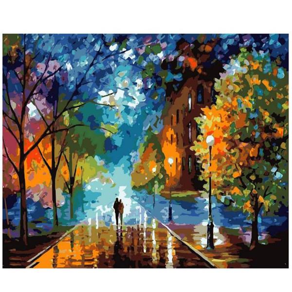 Compre Nuevos Amantes 5d Bricolaje Pintura Al Óleo Digital Abstracta ...