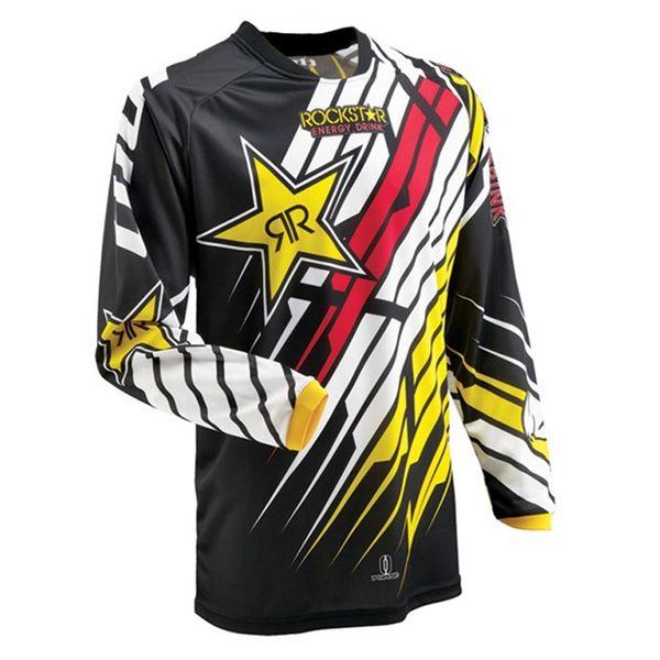 best selling 2018 new Moto jerseys Rockstar Jersey Breathable Motocross Racing Downhill Off-road Mountain Motorcycle shirt Sweatshirt