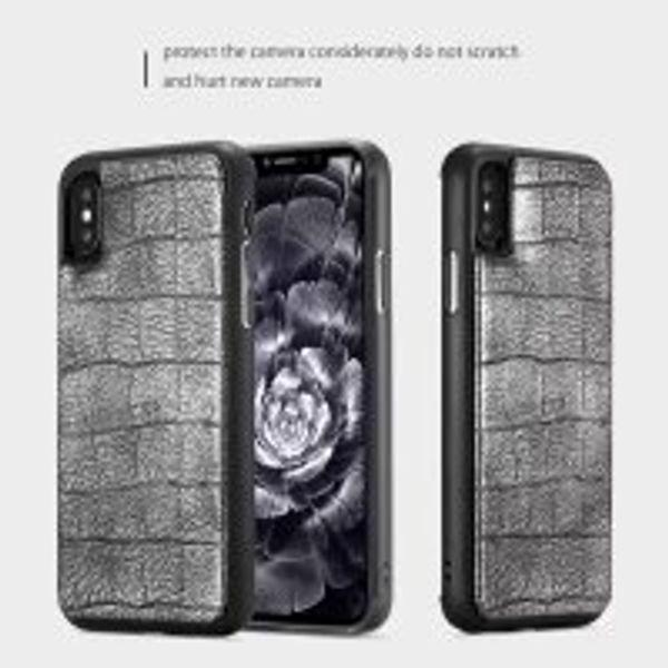 Phone Case Crocodile pattern platinum mobile phone shell phoneX protective cover fashion s9 s9plus