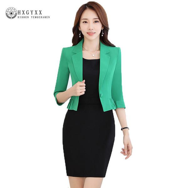 Spring Fashion Women Slim Blazer Casaco Feminino Coat Female Jackets Office Ladies Suit 2018 Casual Solid Short Outerwear Okb861 S18101303
