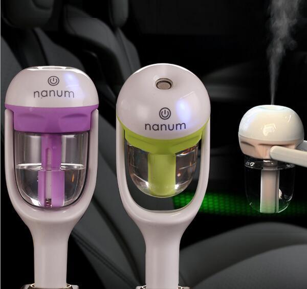 best selling Nanum Car Plug Air Humidifier Purifier,Vehicular essential oil ultrasonic humidifier Aroma mist car fragrance Diffuser
