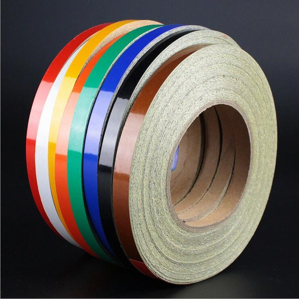 best selling Hot 8 Color Car Stickers Universal Colorful Body Stick Reflect Automotive Sticker Decals Wholesale One Roll 450 cm Exterior Decoration