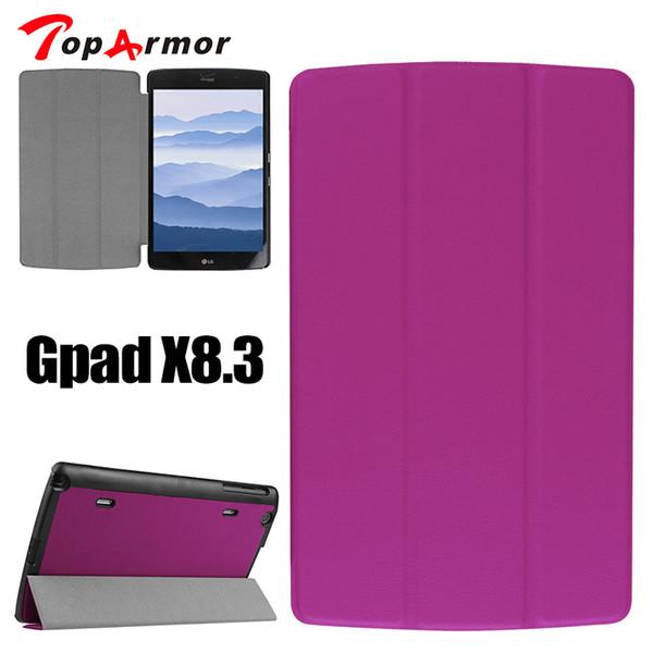 Toparmor 3 tablet case dobrável para lg gpad x 8.3 custer pu leather flip case capa capa para gpad x 8.3 comprimidos e-books