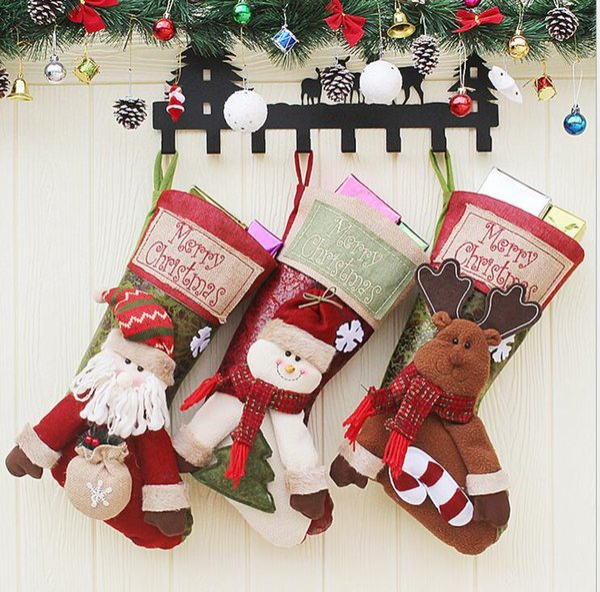 Luxury Deluxe Personalised Embroidered Christmas Letter 2 Santa Xmas Stocking Home & Kitchen Santa Seasonal Décor