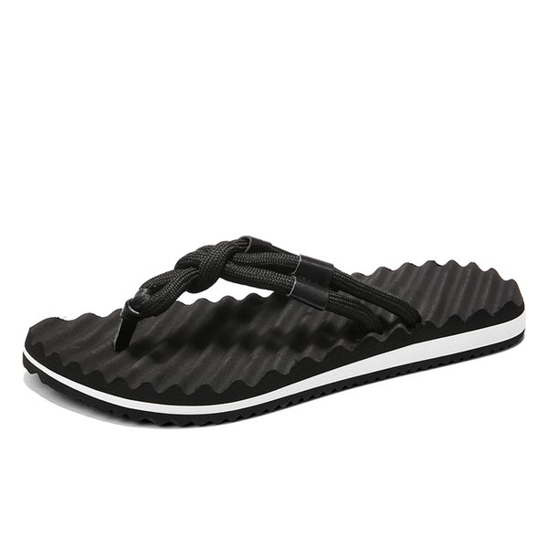 Summer Korean Flip-flops Breathable Anti-slip Care Trend Personality Beach Slippers Roman Drag Men's Splint Tide