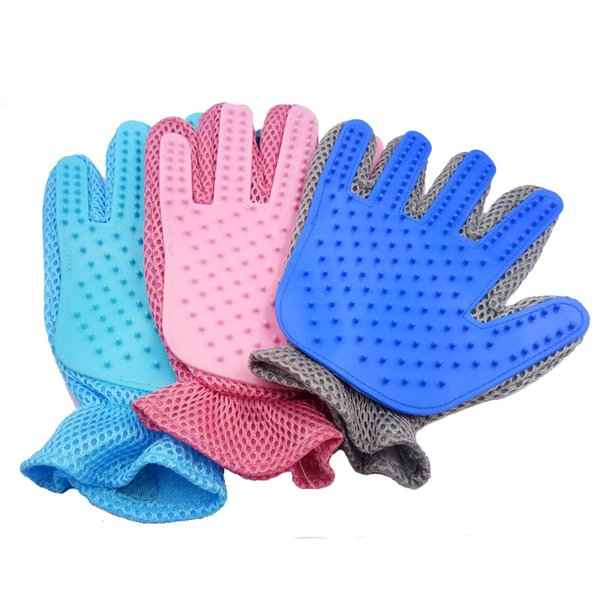 Pet Grooming Glove Massage Magic Hair Remover Perfect for Dogs and Cats with Long and Short Fur