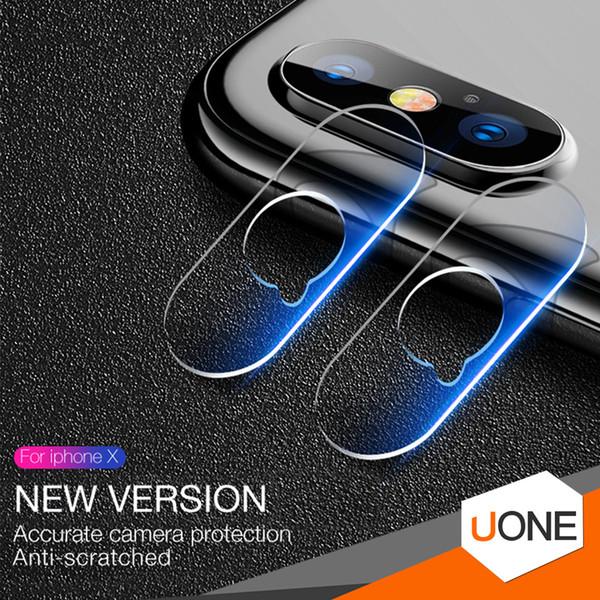 Für iphone XR XS MAX X objektiv gehärtetem glas 2.5D Film Kamera Objektiv Displayschutzfolie Zurück Abdeckung Glas Mit Kleinpaket