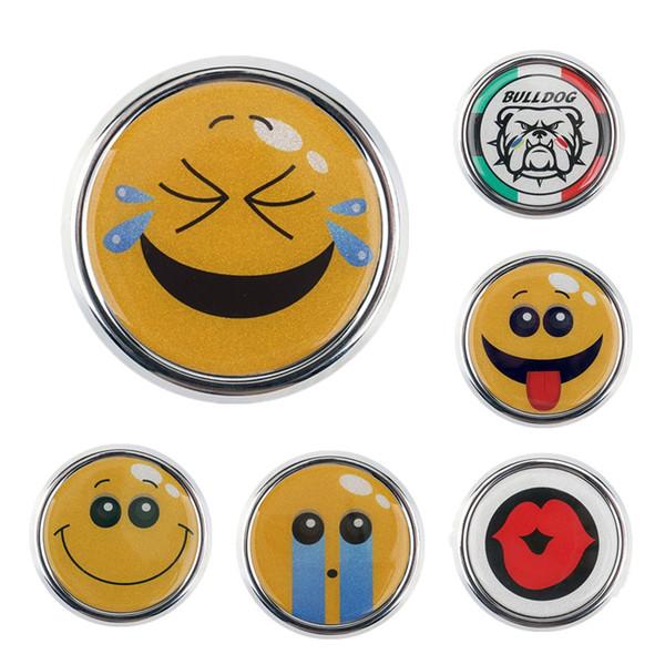 cute car front grille emblem sticker badge emoji decals for mini