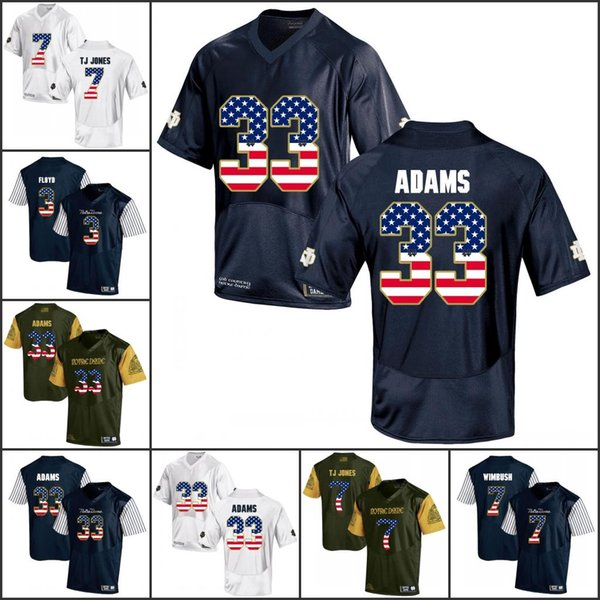 National flag NCAA Notre Dame Fighting Irish College Football jerseys Joe Montana Brandon Wimbush Josh Adams Kizer WIMBUSH jerseys
