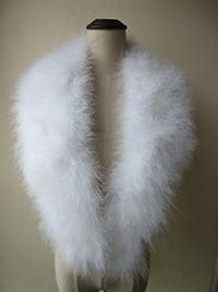 Women's Real Genuine Ostrich Feather Fur Scarf/ Collar Black White Winter Fashion Warm Soft