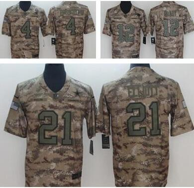 588cd64c3 Camo Salute to Service Limited Jersey 21 Ezekiel Elliott 4 Dak Prescott  Dallas Cowboys Football Jerseys
