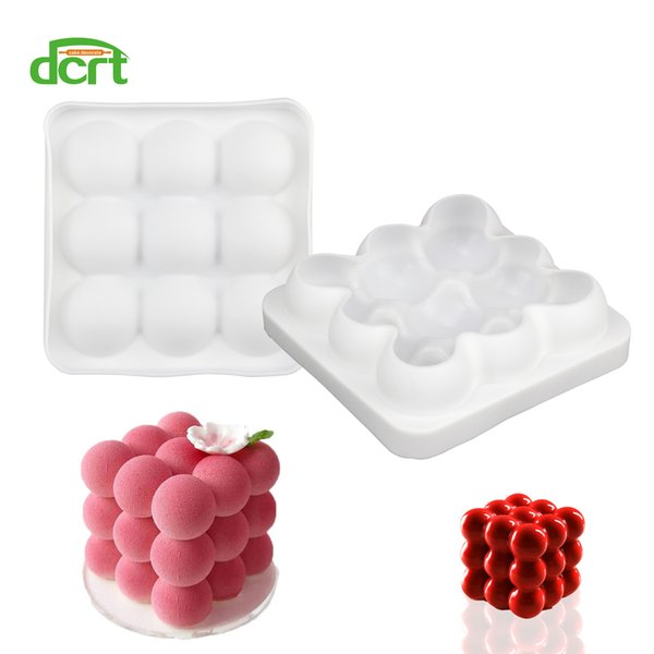 DCRT 3*3 Spheres Shape Silicone Cake Mold DIY Baking Mold For Chocolate Mousse Chiffon Cake Decorating Tools