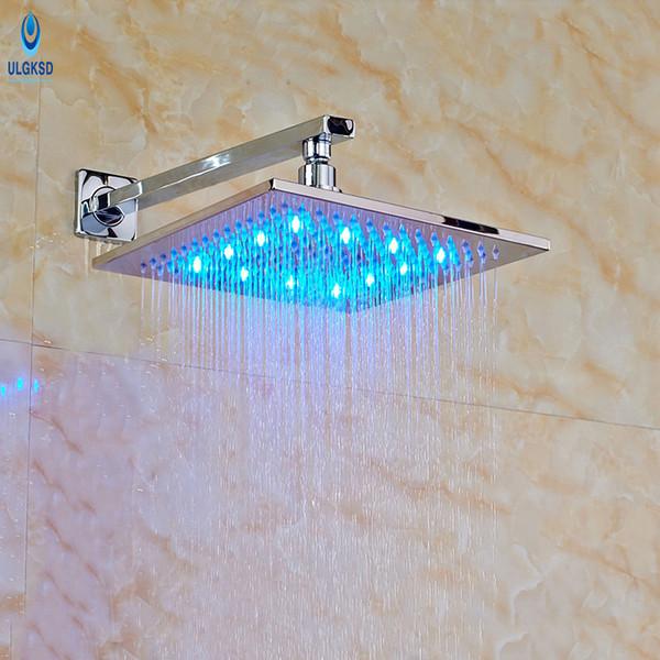 Ulgksd Großhandel und Einzelhandel Duschkopf 12 '' LED Bad Regendusche HeadWall Montiert Badezimmer Kopf Ersatz