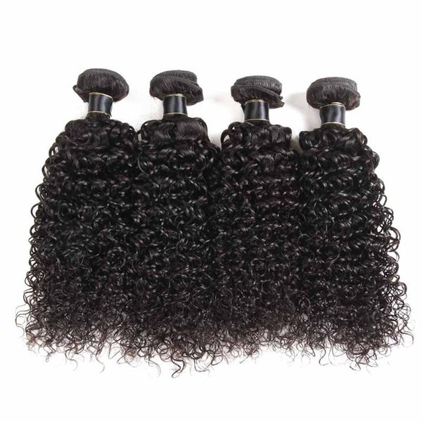 Brazilian Virgin Hair Deep Wave Jerry Curly Loose Deep 3/4 Bundles Weaves Malaysian Peruvian Cheaper Lans Hair Extensions Straight Body Wave