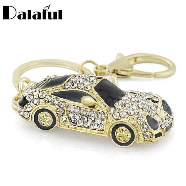 Cool Roadster Sports Car Crystal HandBag Pendant trendy Keyring Keychain For Car Purse Bag Buckle key holder Key Chains K164
