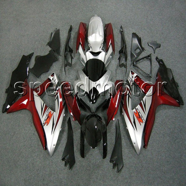 23colors+Gifts Injection mold red silver motorcycle Fairing for Suzuki GSXR600 2008 2009 2010 GSXR750 08 10 09 K8 ABS plastic kit