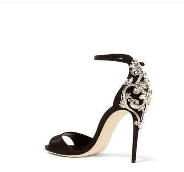 2018 Crystals Female Wedding Dress Shoes Princess Women Pumps Night Party Stiletto Rhinestone Sandals Women High Heels Sandals Shoes