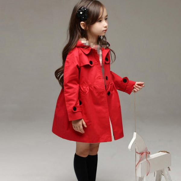 best selling Girl Kids Jackets Trench Coats Girls Windbreakers Spring Autumn Teenage Outerwear