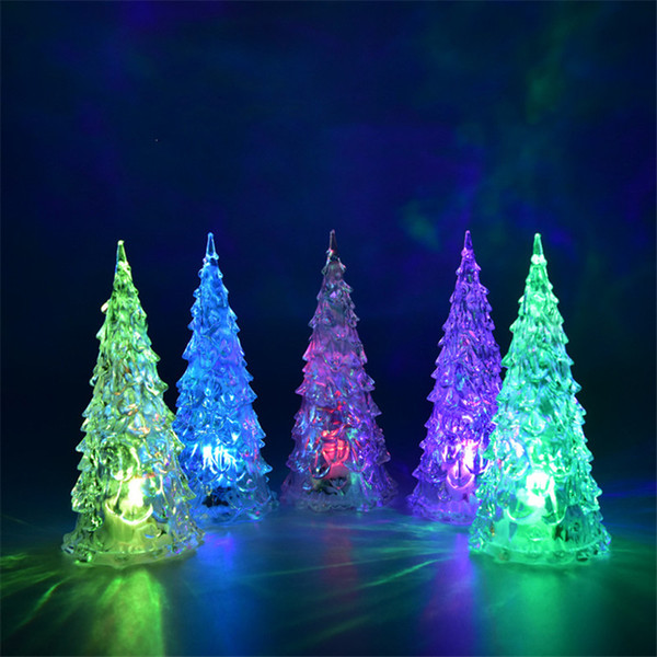 MINI Christmas tree led lights Crystal clear colorful xmas trees Night Lights Cosplay New Year Party Decoration Flash bed Lamp Ornament 80PC