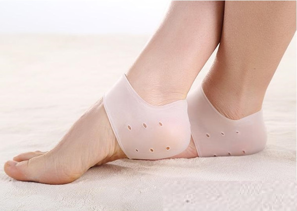 Gel Insoles Brand New silicone Gel Heel protector shoe insoles cushion and Ankle Sleeve for foot care plantar fasciitis H011