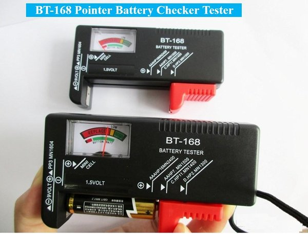 Bt 168 Pointer Display Battery Tester Bt168 Universal Button Battery Checker Tester For Aa Aaa C D 9v 1 5v Checks Power Level Batteries Car Battery