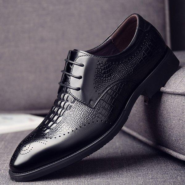 DEOLERLTOL Zapatos formales para hombre Zapatos de cuero genuino negro Vestido de fiesta de cuero de grano completo Calzado de oficina Zapatos clásicos para hombre